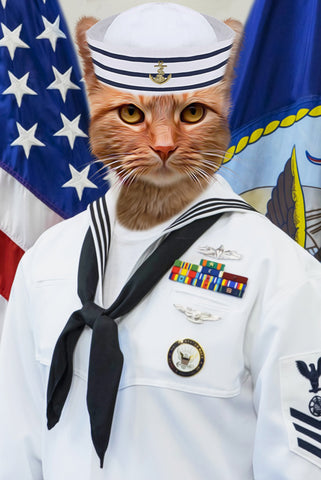 Image of Sailor-Pet // Custom Pet Portrait