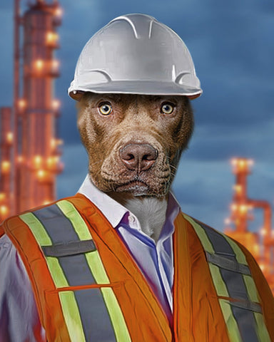Image of Engineer-Pet // Custom Pet Portrait