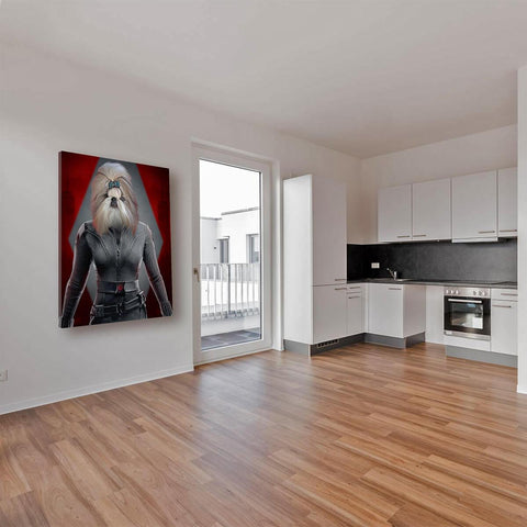 Image of black widow dog wall art