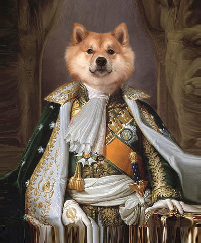 Image of Na-Pet-Leon Bonaparte // Custom Pet Portrait