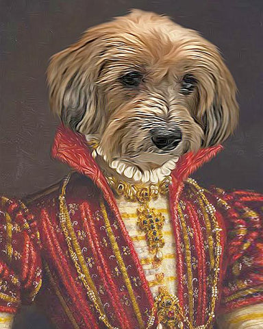 Image of bavarian princess dog painting