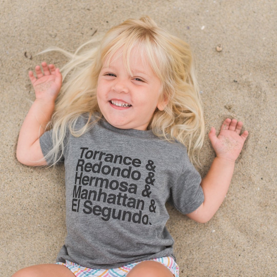 Beach Cities Lineup Toddler Tee - Esplanade Brand