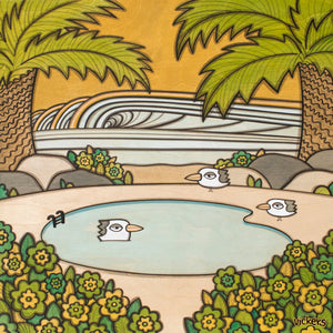 Birdy Poolside II Print - Joe Vickers Art