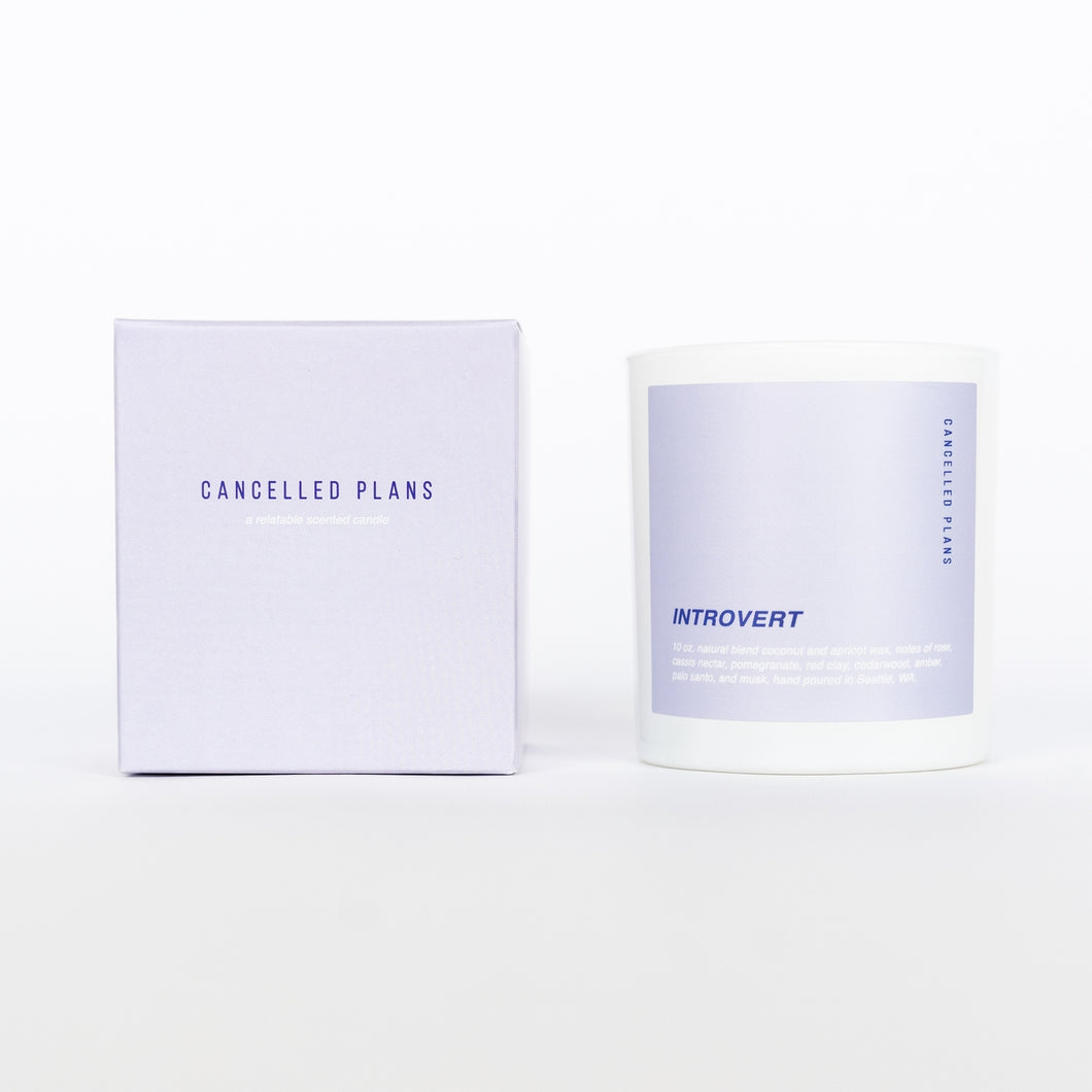 Introvert Candle - Cancelled Plans