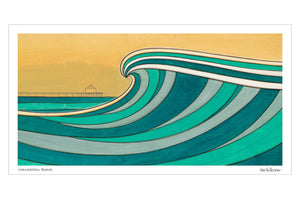 Manhattan Beach Print - Joe Vickers Art