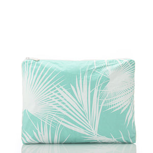 Mid Day Palms Pouch in White Pool - Aloha Collection