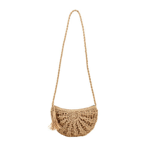 Woven Paper Crossbody Purse - San Diego Hat Company
