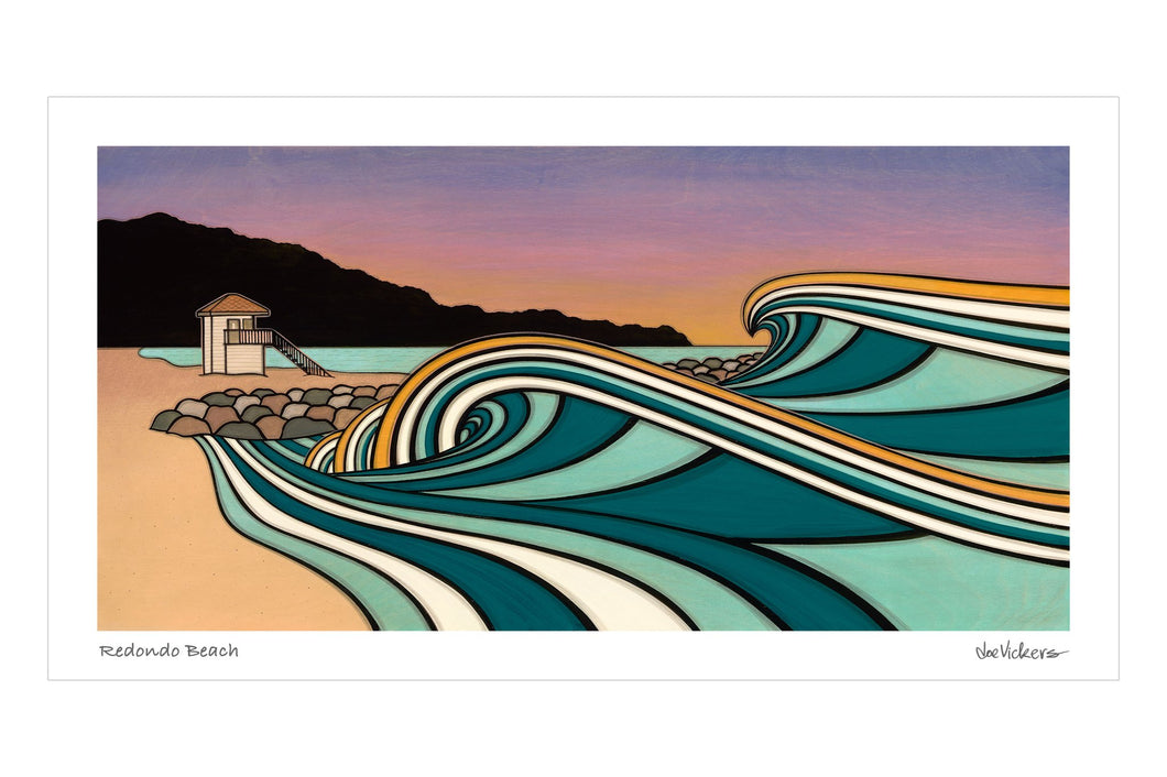 Redondo Beach Print - Joe Vickers Art