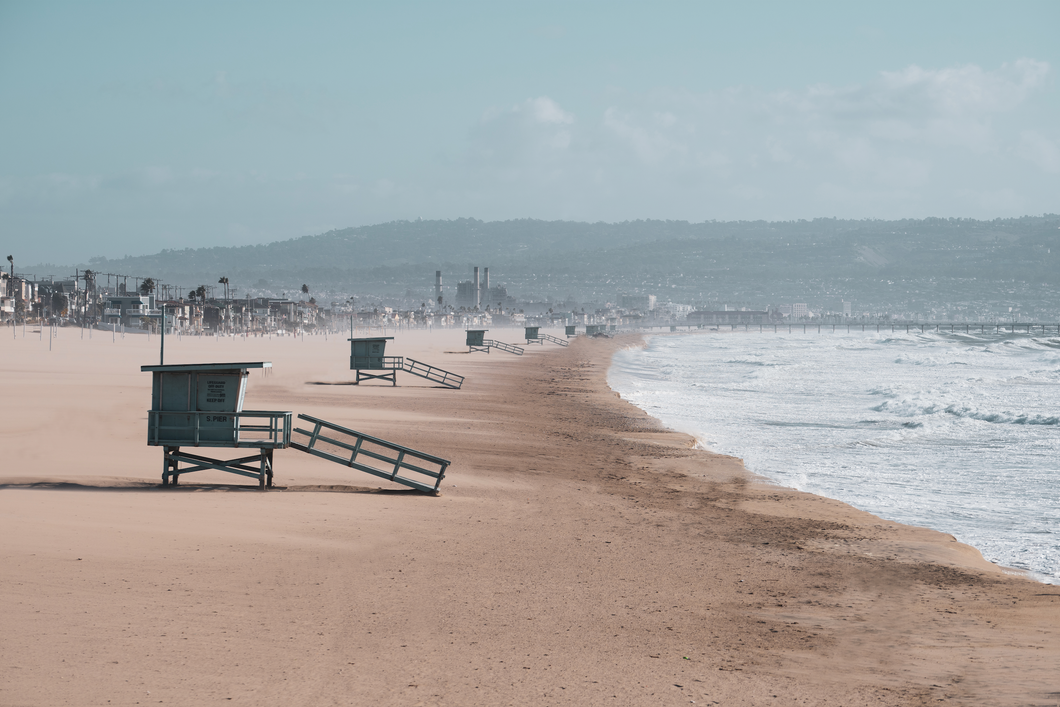 Looking South in Hermosa Beach Print - Greg Eimers Photography