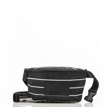 Load image into Gallery viewer, Pinstripe Mini Hip Pack in White on Black - Aloha Collection