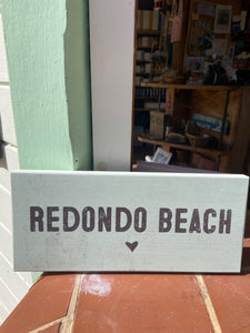 Redondo Beach Beach Sign - Sincere Surroundings