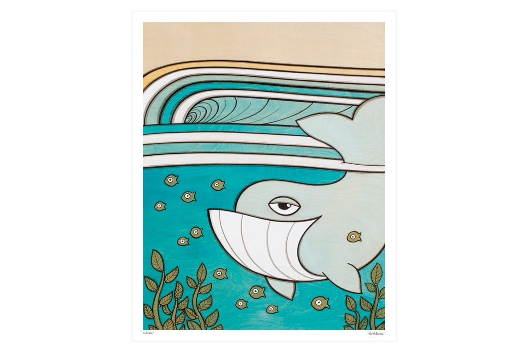 Whale Print - Joe Vickers Art