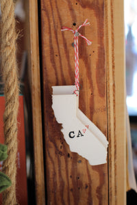 California Pride Holiday Ornament - Tasha McKelvey