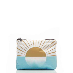 Small Westside Pouch in Mustard - Aloha Collection