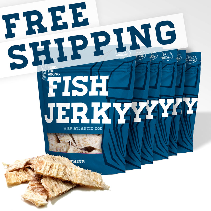 "Fish Jerky ""Wild Atlantic Cod""   Six-Pack 6x50g (6x1.8oz)"