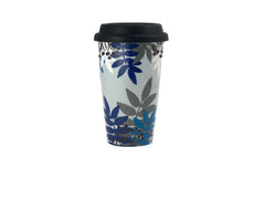 Thermo cup with lid – Garden Party / Blue