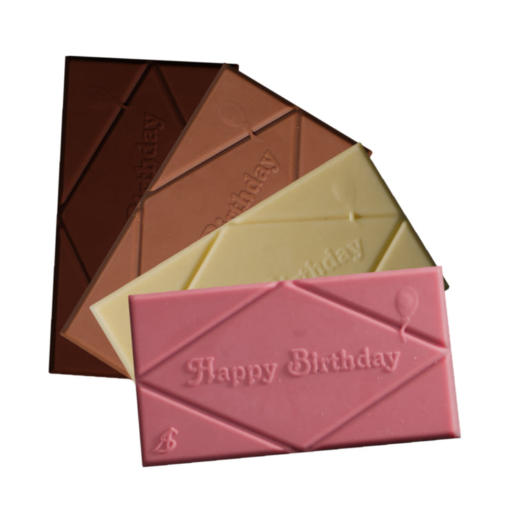 Happy Birthday Chocolate Bars (2 x 60g)