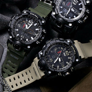 Men's Military Watch - Men's Sport Watch - Mens Movement Watch - Men's Analog Digital
