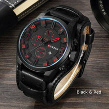Load image into Gallery viewer, Men's Leather Fashion Watch - Mens Fashion Watch - Trendy Men's Sport Watches