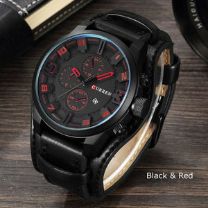 Men's Leather Fashion Watch - Mens Fashion Watch - Trendy Men's Sport Watches