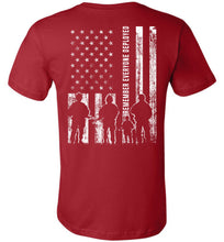 Load image into Gallery viewer, Remember Everyone Deployed RED T-Shirt in Canvas Red