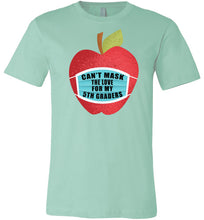 Load image into Gallery viewer, Can't Mask The Love - 5th Graders T-Shirt in Mint
