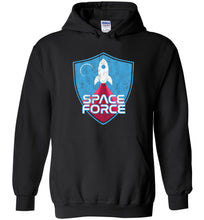 Load image into Gallery viewer, Space Force Blast Off Hoodie in Black