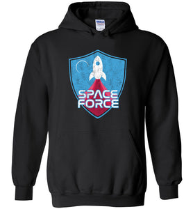 Space Force Blast Off Hoodie in Black