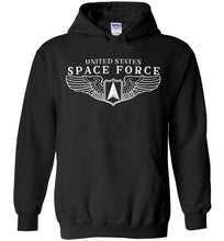 Load image into Gallery viewer, Space Force Wings Hoodie in Black