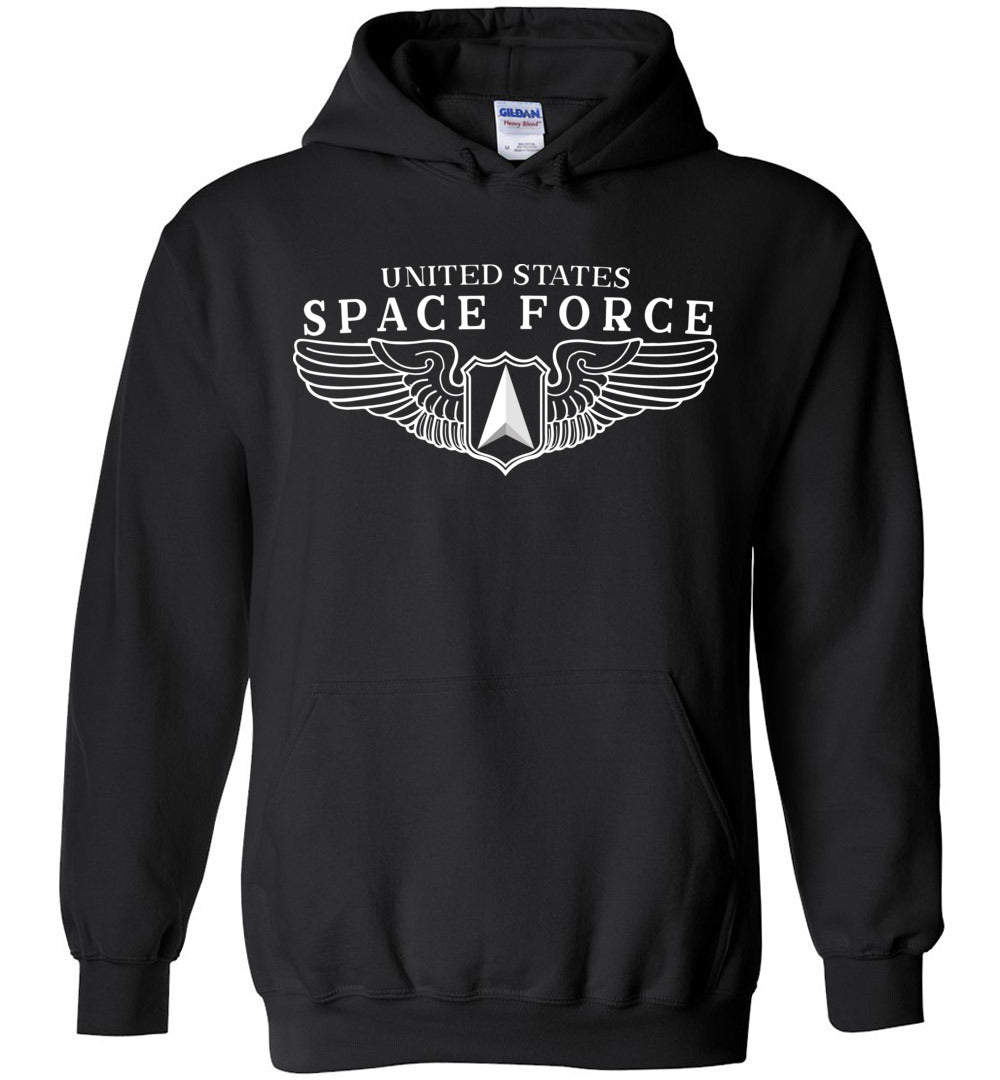 Space Force Wings Hoodie in Black