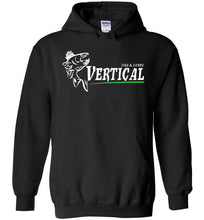 Load image into Gallery viewer, Vertical Jigs and Lures Logo Hoodie in Black