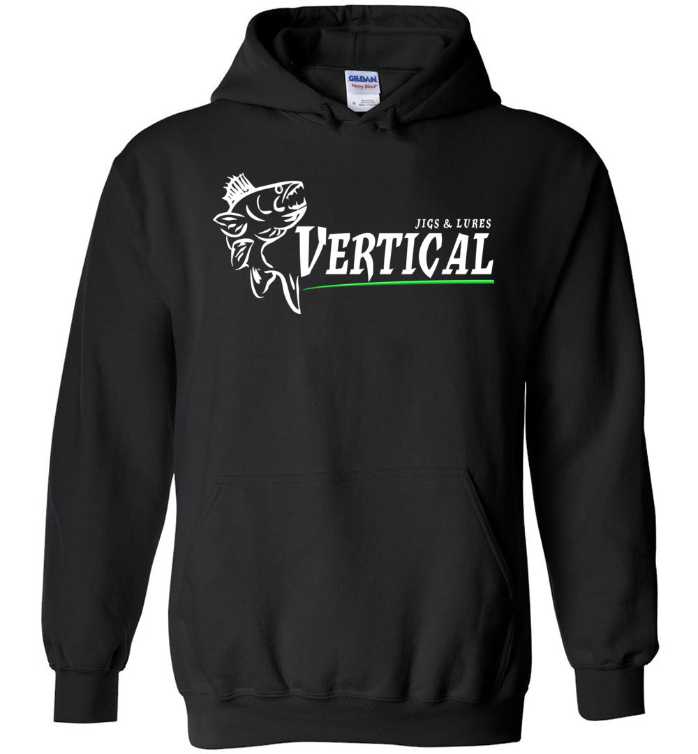 Vertical Jigs and Lures Logo Hoodie in Black
