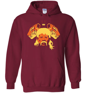 The Tiger King Hoodie in Cardinal Red