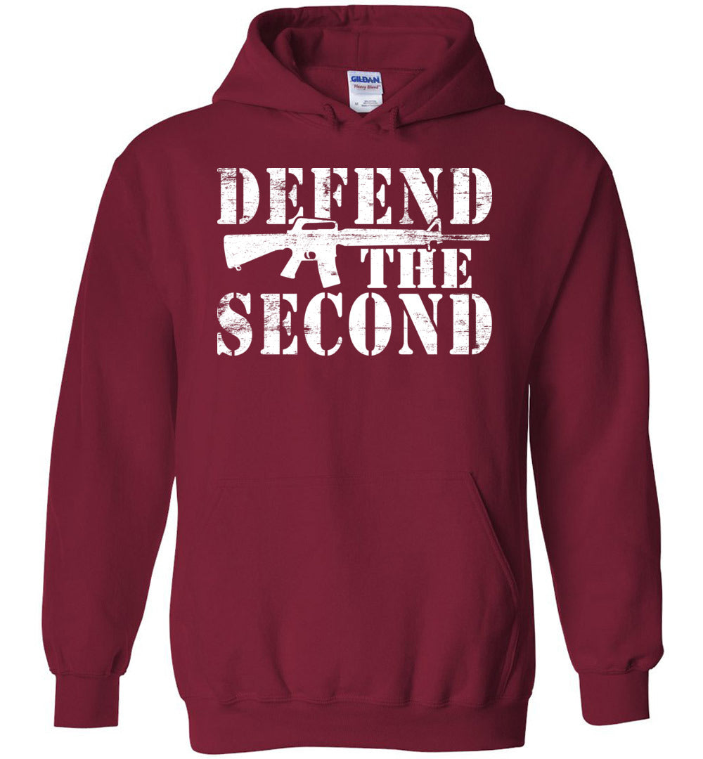 Defend the Second Hoodie in Cardinal Red