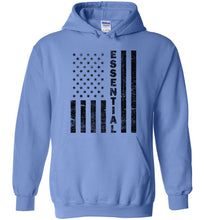 Load image into Gallery viewer, Essential Employee Flag Hoodie in Carolina Blue