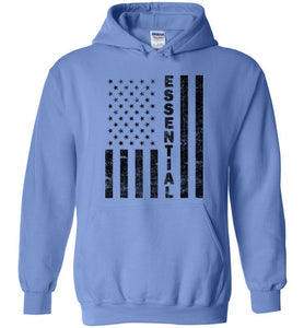 Essential Employee Flag Hoodie in Carolina Blue
