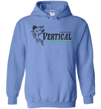 Load image into Gallery viewer, Vertical Jigs and Lures Logo Hoodie in Carolina Blue