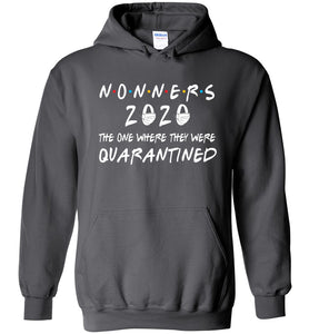 Quarantined Nonners Hoodie in Charcoal