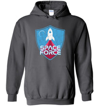 Load image into Gallery viewer, Space Force Blast Off Hoodie in Charcoal
