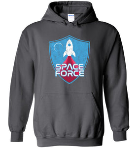 Space Force Blast Off Hoodie in Charcoal