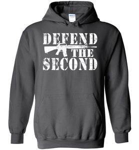 Defend the Second Hoodie in Charcoal