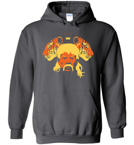 The Tiger King Hoodie in Charcoal