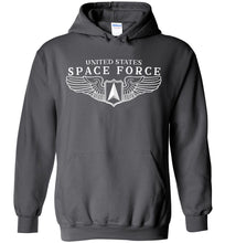 Load image into Gallery viewer, Space Force Wings Hoodie in Charcoal