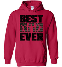 Load image into Gallery viewer, Best Dad Ever Hoodie in Cherry Red