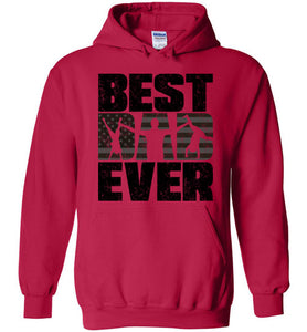 Best Dad Ever Hoodie in Cherry Red