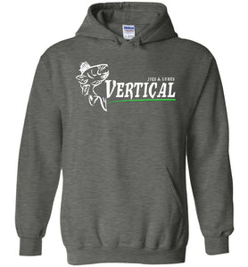 Vertical Jigs and Lures Logo Hoodie in Dark Heather