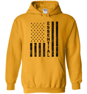 Essential Employee Flag Hoodie in Gold