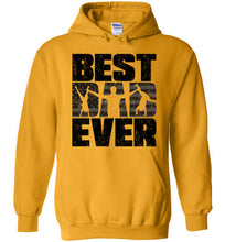 Load image into Gallery viewer, Best Dad Ever Hoodie in Gold