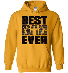 Best Dad Ever Hoodie in Gold