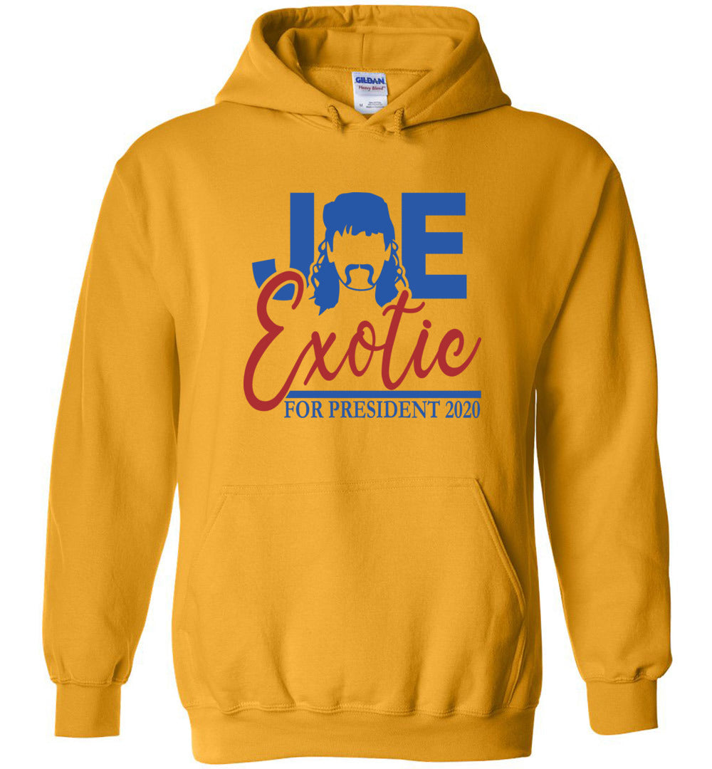 Joe Exotic for President Hoodie in Gold